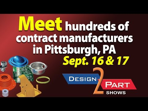 Pittsburgh D2P tradeshow for contract manufacturing services