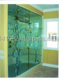 Living Room Glass Partition Wall Design U0026 Etching Interior Half Glass Wall  Decorative Pillar Partition
