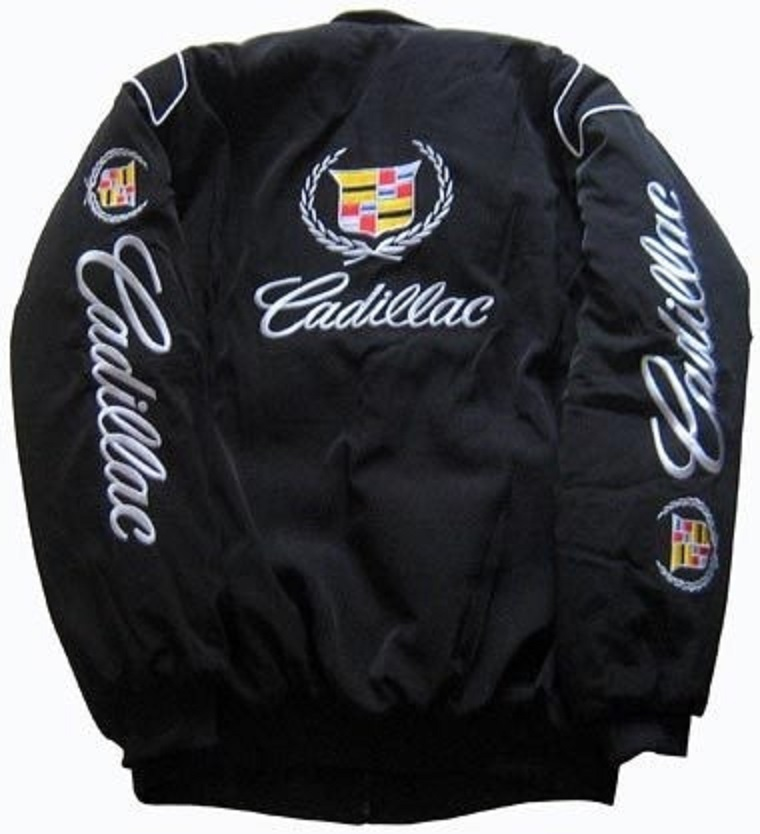 RACING TEAM ALL LOGO IN BRODERY JACKET-BLOUSON CADILLAC WHITE COLOR