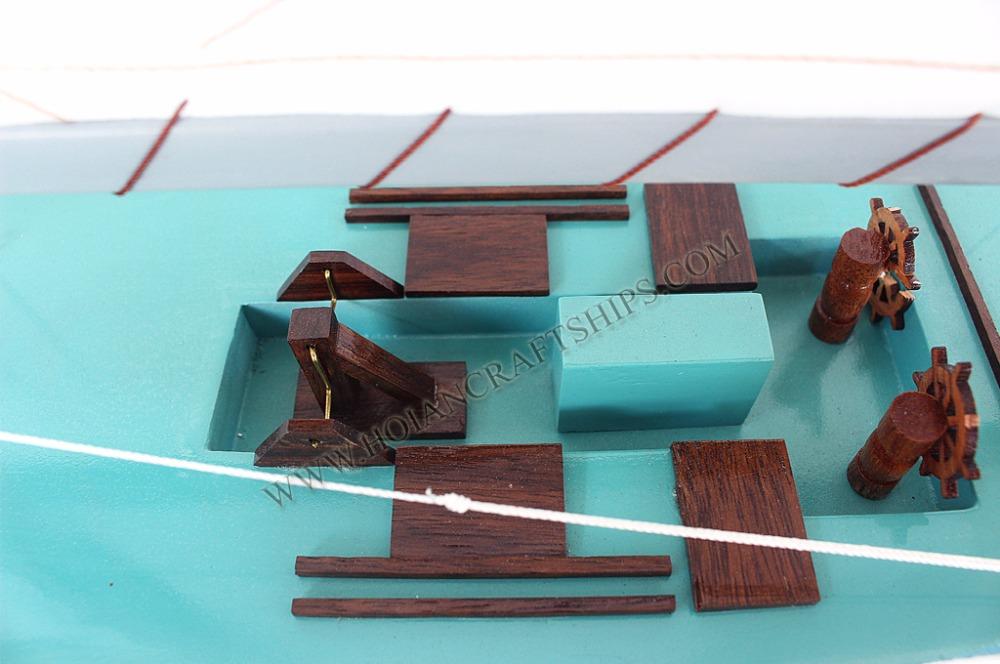 MUTIGE boot modell Elegante holz dekoration miniature holz handwerk ...