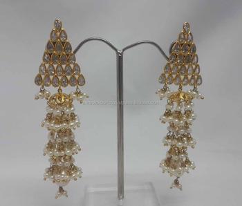 765ecf2965a6bb Pearl Jhumka Earring Latest Light Weight 18k Jewellery Manufacturer ...