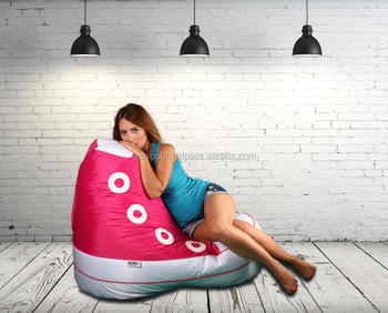 Sneaker Funny Bean Bag Chair For Indoor And Outdoor Waterproof High Quality
