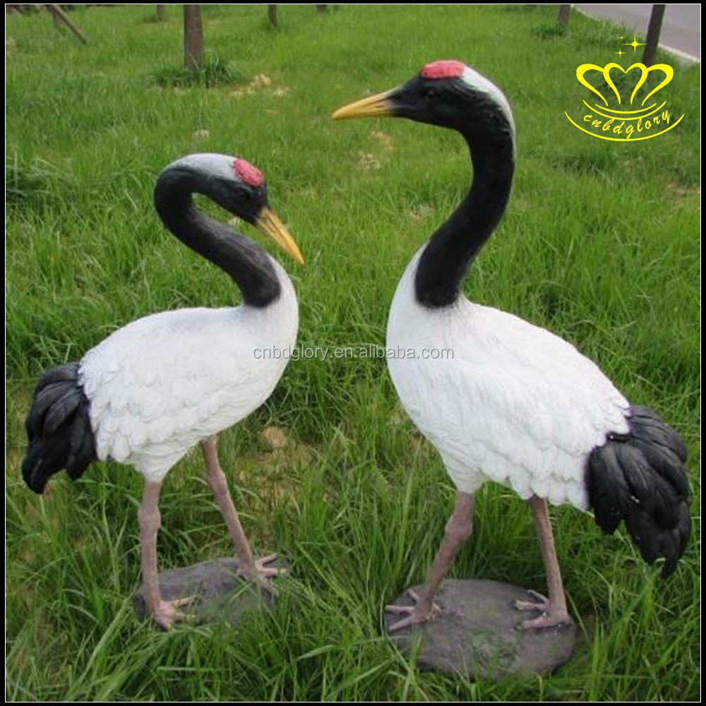 Outdoor garden landscape sculpture Statues Type and Eastern Style bird resin crafts