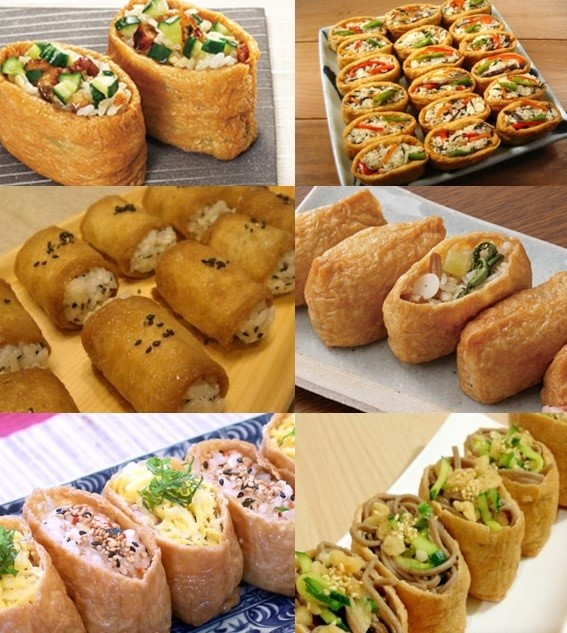 100% additive free and Delicious pre-cooked inari fried tofu wraps Fried bean curd cooked in a secret recipe