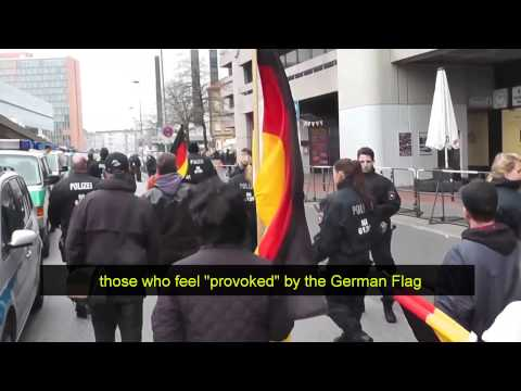 "German police ""Hide German flag"" to protestors"