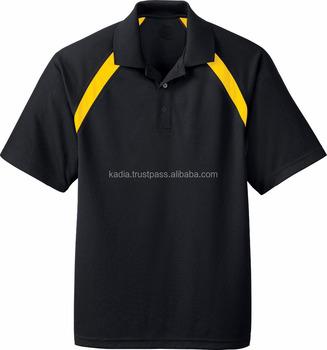 Black Polo Shirt With Yellow Panel Buy Polo Shirt Design Bulk Polo Shirts New Design Polo Shirt Product On Alibaba Com