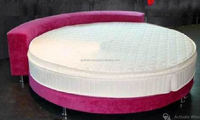 NEW MODERN DESIGN ROUND BED /NEW STYLISH AND HIGH QUALITY FOAM MATTRESS BED/BEAUTIFUL PINK ROUND BED
