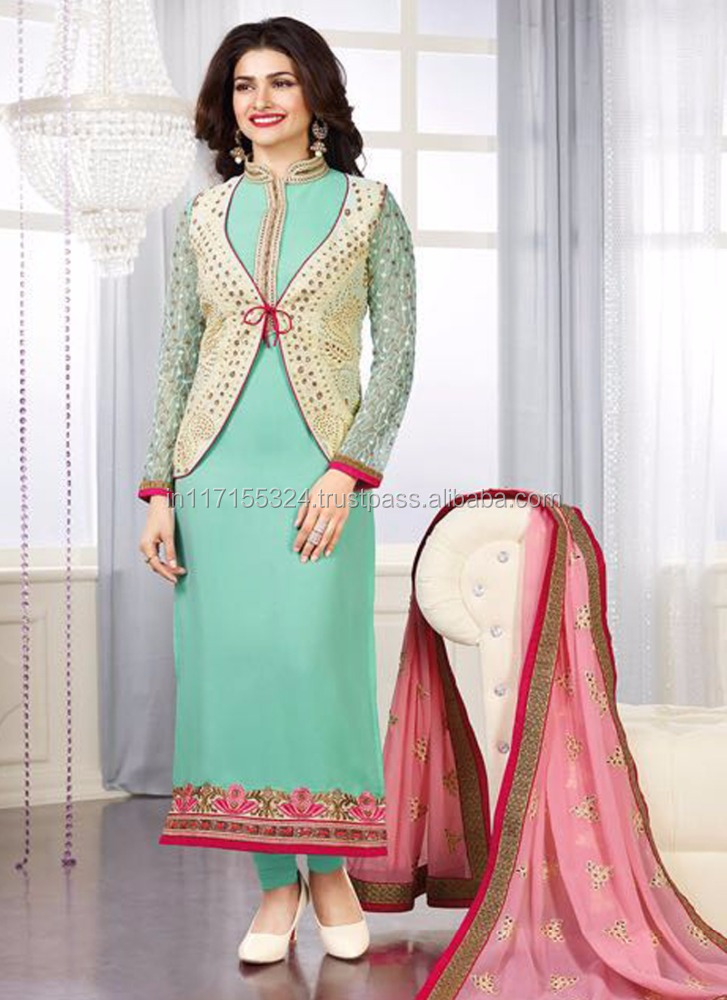 4bae6896955b Salwar and kameez - Lace designs salwar kameez - New latest daily wear  salwar kameez for ladies win - India clothing factory