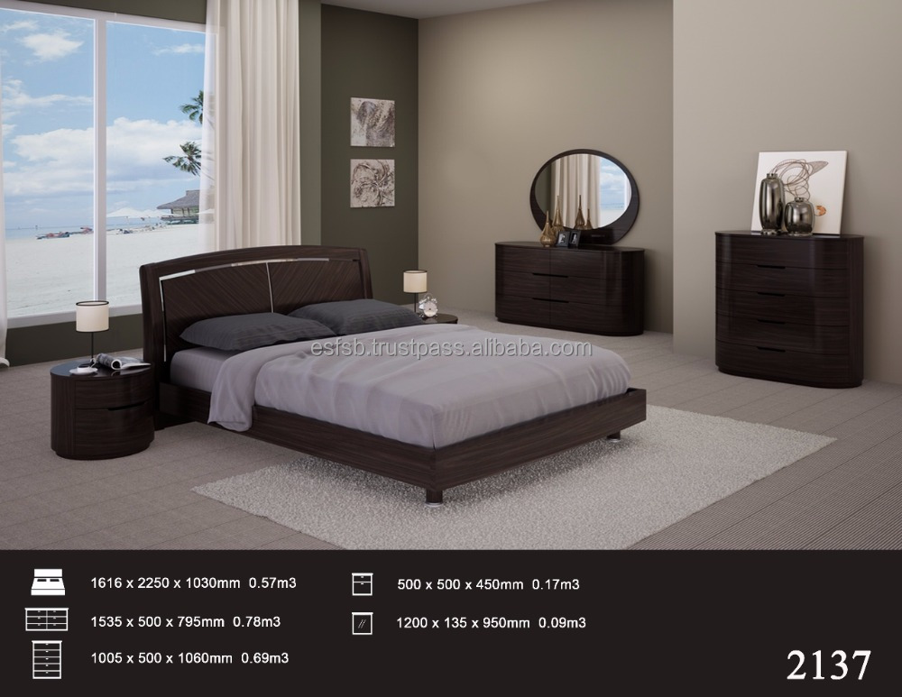 Contemporary Round Shape Bedroom Set