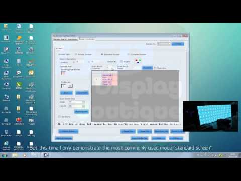 LED screen display control software Novastar tutorial from led screen supplier
