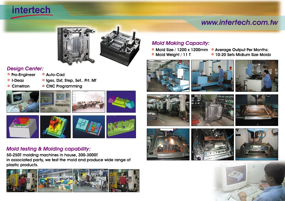 Taiwan Trade assurance customized injection plastic tooling manufacturer