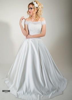 Wedding Dress Boat Neck Lace Body Satin Taffeta - Buy Satin Taffeta ...