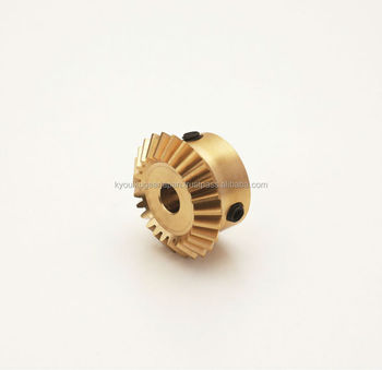 Miniature straight miter gear Module 1.0 Ratio 1 Brass Made in Japan KG STOCK GEARS