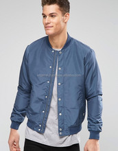 Custom Nylon Plain bomber jacket mens