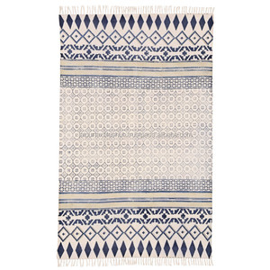 100% Pure Cotton Indian Handwoven Cotton Durrie Rug
