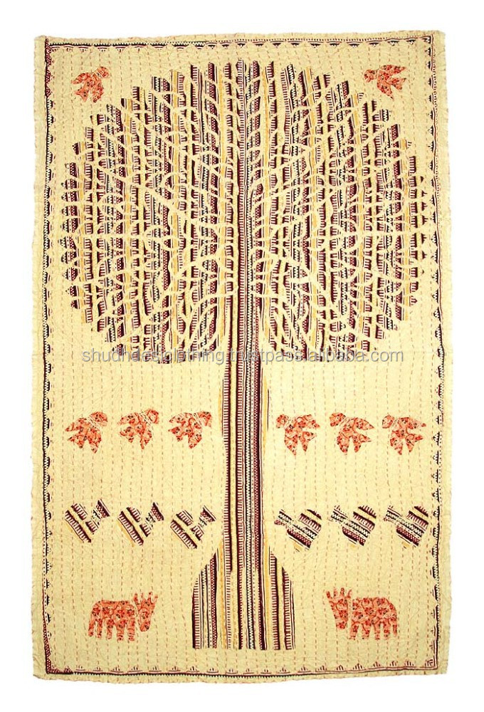 Handmade embroidered life of tree Wall Hangings tapestry