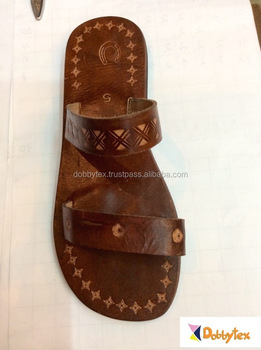 9415cb4065c92e Dobbytex 1013 Natural carved Handmade African Men Leather sandals Hmong Mien  Miao Summer