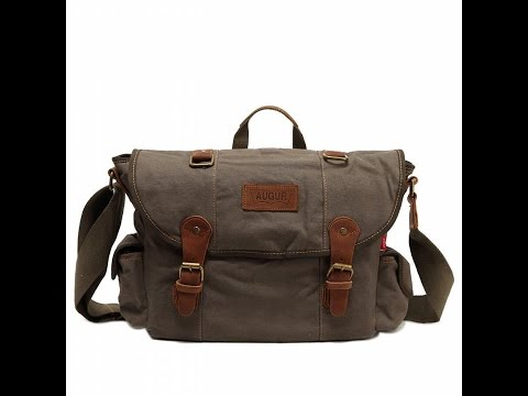 Sechunk Multifunction Cotton Canvas Shoulder Bag Messenger Bag Crossbody Bag Book bag Laptop Bag Wor
