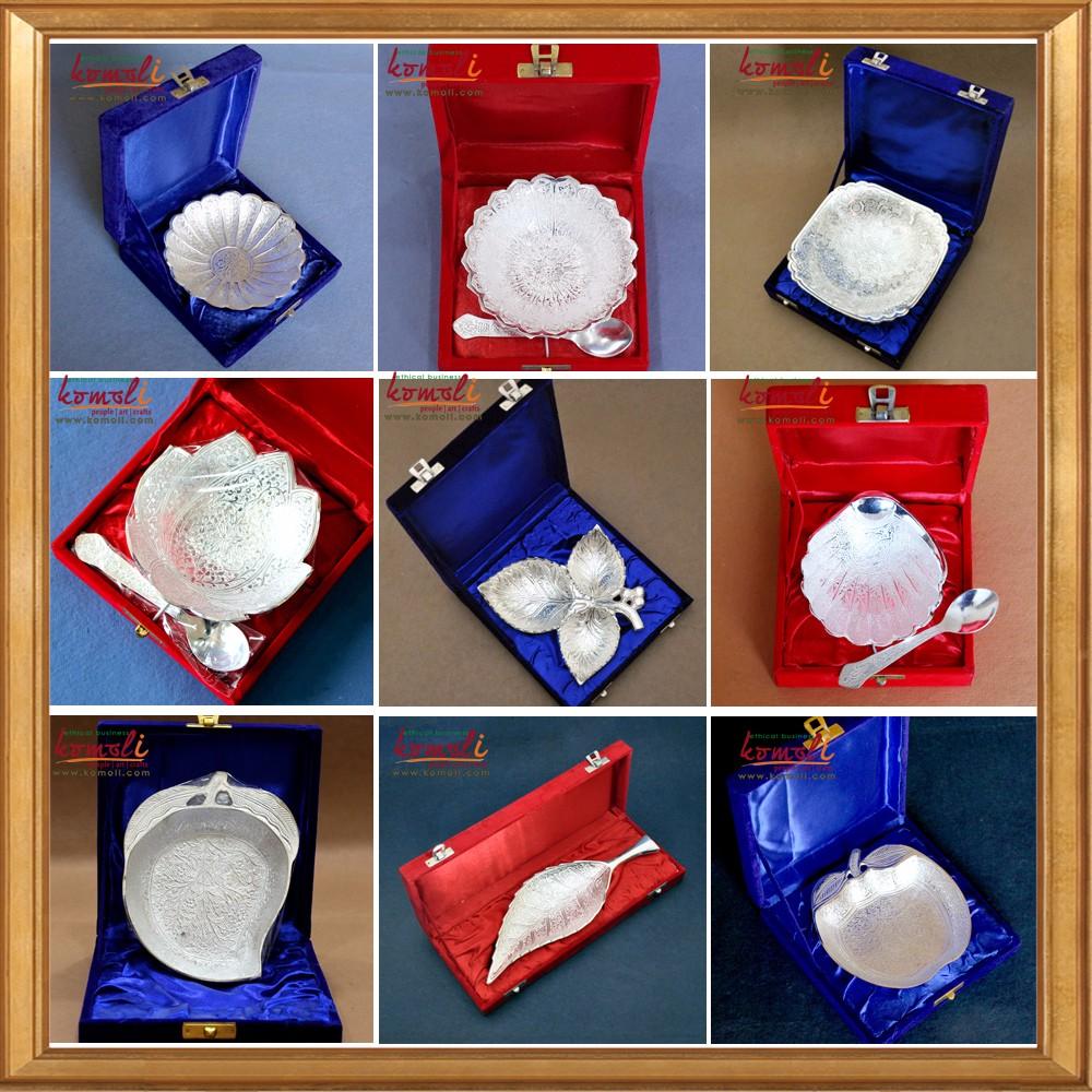 Hexagonal Silver Plated Bowl Indian Wedding Favor Wholesale Return