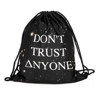 FactorytoShop (UK) Provider of Wholesale and Dropshipper Services Stylish Unisex String Simple Backpack - Don't Trust Anyone