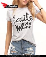 Silk Screen Printing 100% Cotton Fabric Wholesale Online Custom T Shirts Woman