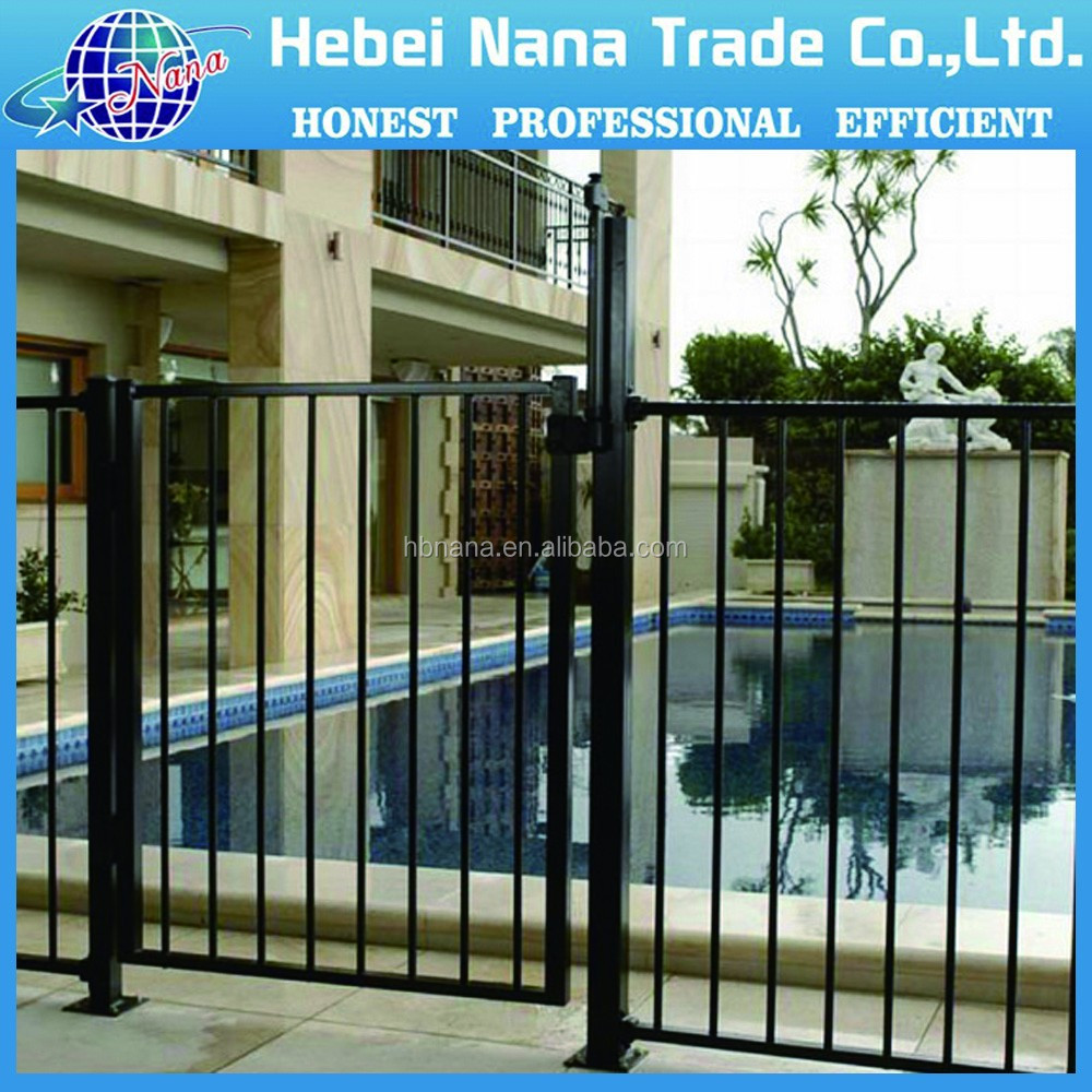 Black aluminium fence and swimming pool fence panels powder black aluminium fence and swimming pool fence panels powder coated metal fence baanklon Images