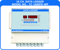 16 channel with data logging software temperature data logger