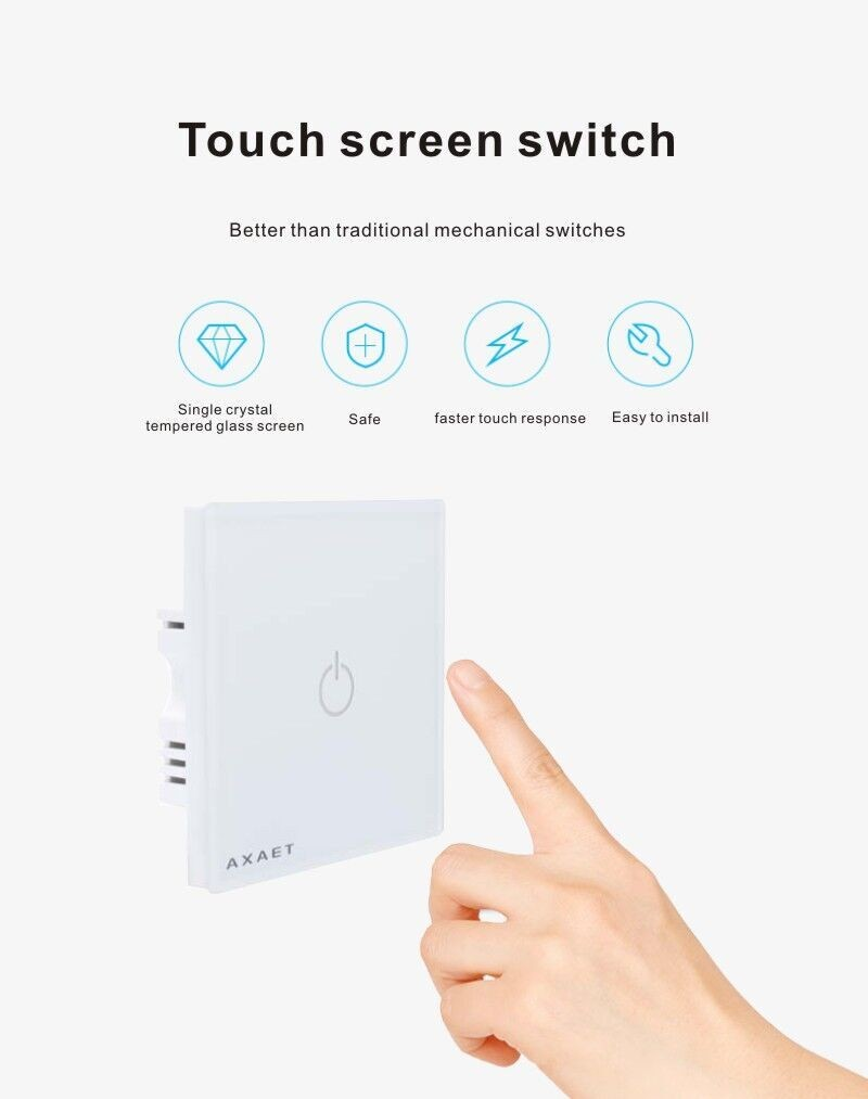 Buletooth screen touch remote control intelligent wall smart switch for smart home