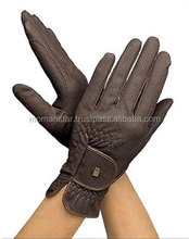 Custom Professional Leather Equestrian Horse Riding Gloves ladies Fashion gloves