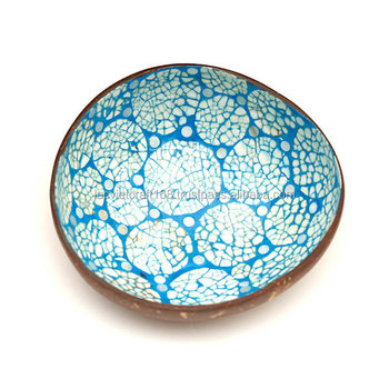 High Quality Best Selling Eco Friendly Lacquer Eggshell Inlay Coconut Bowl  From Viet Nam