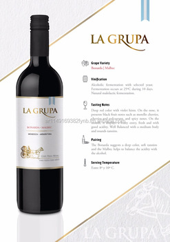 La Grupa (Bonarda/Malbec) - Wines from Argentina- South America