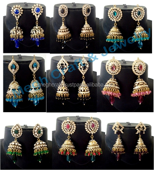 Indian wholesale Victorian CZ Earrings -Rhinestone earrings-Imitation  earrings-Victorian jewelry-Bollywood Style Earring, View new style  earrings,