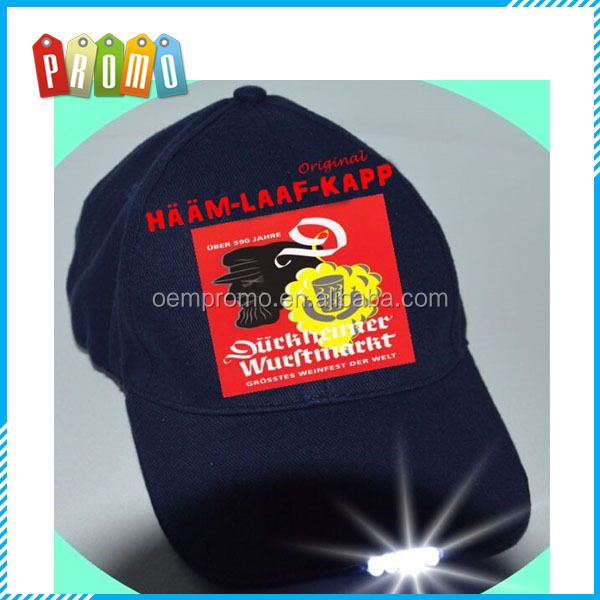 Promotional 100% cotton LED Baseball Cap