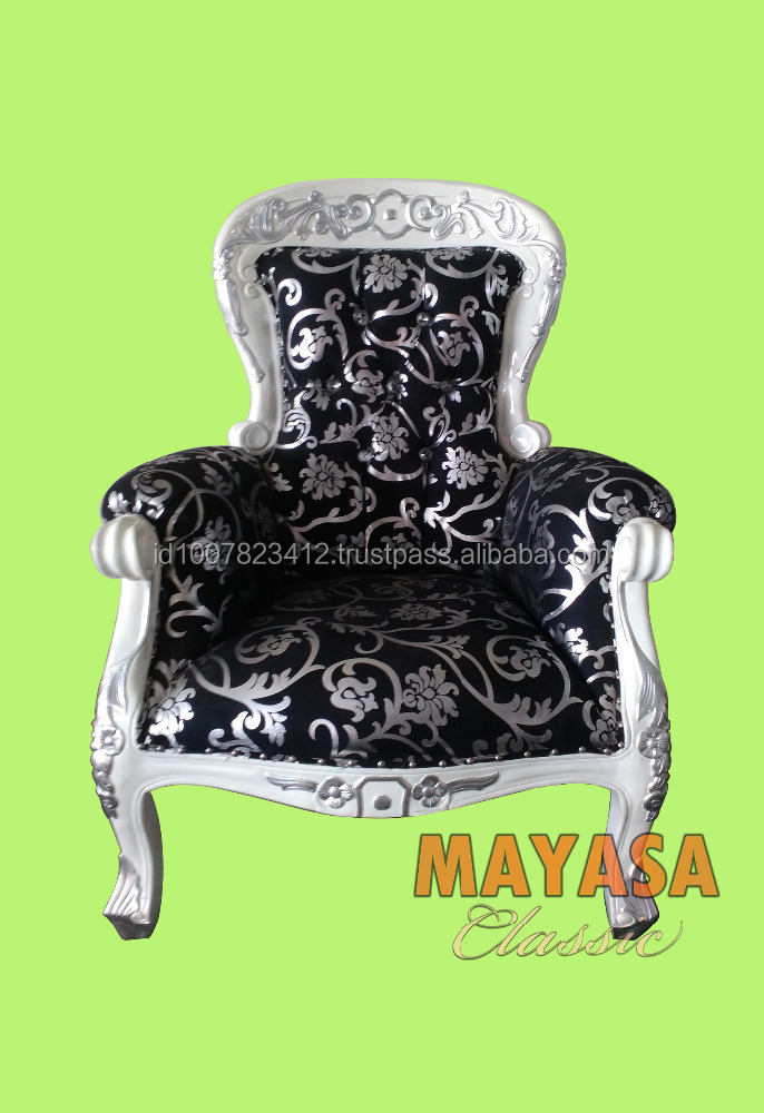 Classic Sofa Motif 1 seater Furniture Jepara
