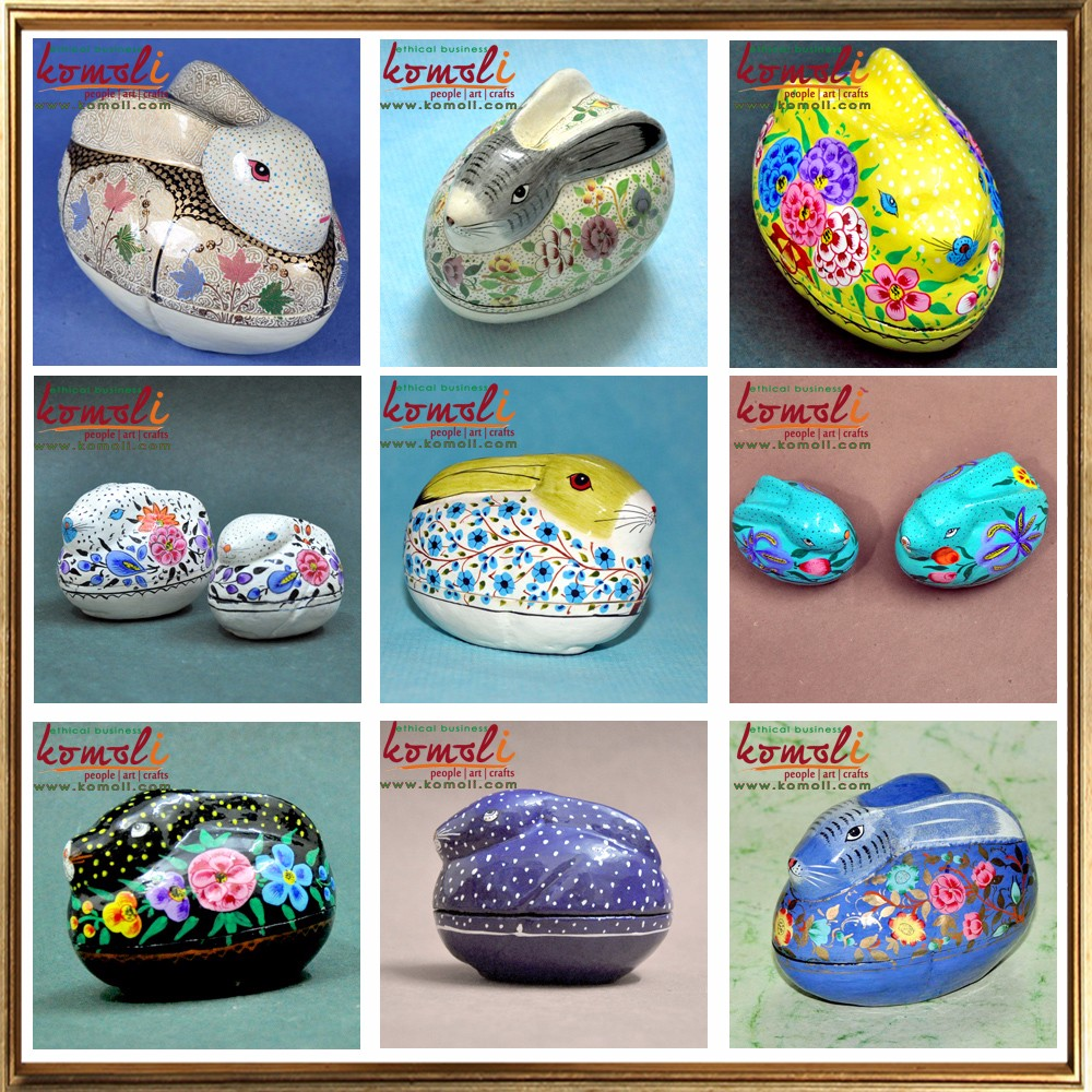 Hand painted paper mache animal shaped keepsake easter egg box hand painted paper mache animal shaped keepsake easter egg box gift boxes negle Images