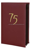 Leather Book Style Double Fold Panel Menu Cover Menu Holder