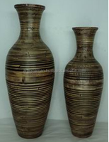 Decorative Bamboo Vase, Floor Bamboo Vase