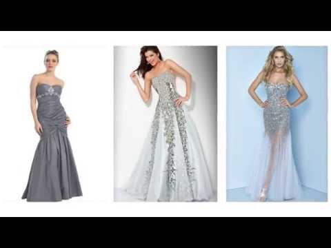 Silver prom dresses, long silver prom dresses for women