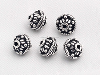 Sterling Silver Bead Caps, Bali Beads, Oxidized Bead Caps