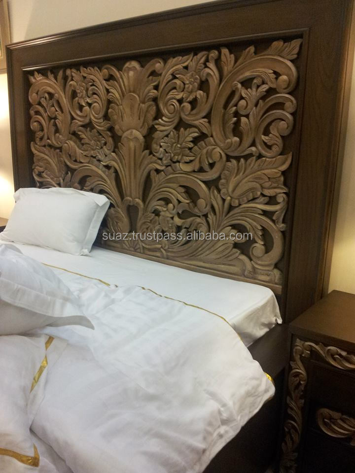 Queen Size Bedcarving Bedwooden Bed Framewooden Bed With Drawer