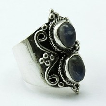 Take This Chance !! Rainbow Moonstone 925 Sterling Silver Ring, Silver Jewellery Supplier, Handmade Silver Jewellery