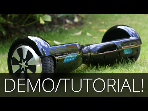 Self Balancing Scooter Demo & Tutorial - 2 Wheel Electric Hoverboard! Swegway/Monorover/Segway)