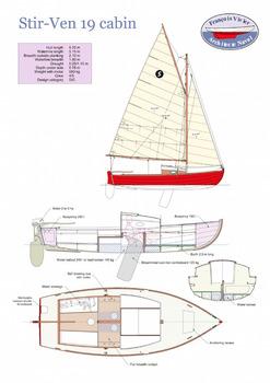 Stir Ven 5 7 M Centreboard Cabin Sailboat - Buy Sailboat Product on  Alibaba com