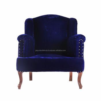 Tela De Terciopelo De Color Azul Real De Madera Muebles Tapizados ...