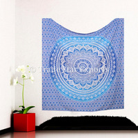 Queen Size Cotton Ombre Wall Decorative Wall Art Mandala Bohemian Hippie Tapestry