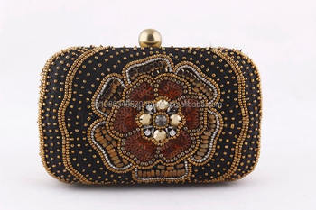 0c41162ca57f3 Indian Box Cross Body Clutch Luxury Beaded Diamond Beads Embroidery Heavy  Clutches Purse Bridal Handbag Wedding Evening Party - Buy Indian Box Clutch  ...