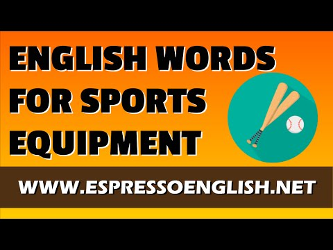 English Vocabulary Words - Sports Equipment