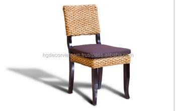 New Wholesale Water Hyacinth Chair Acacia Wood Frame, Water Hyacinth  Furniture Vietnam