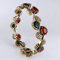 Beautiful Blue Onyx_Red Onyx_White CZ 925 Sterling Silver Bracelet, Wholesale Silver Jewelry With Good Price