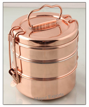 Copper Plated Tifin Buy Copper Plated TifinStainless Steel Tiffin